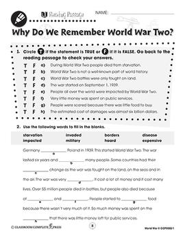 World War II: Why Do We Remember World War Two? Gr. 5-8