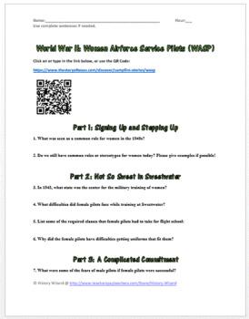 World War II: Women Airforce Service Pilots Webquest