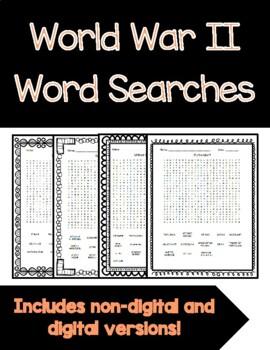 World War II Word Searches