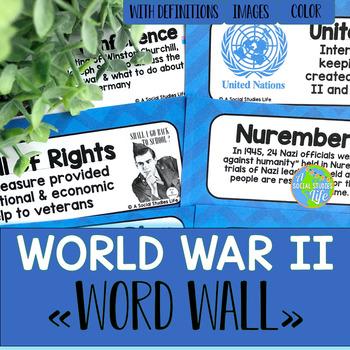 World War II Word Wall