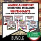 World War II Word Wall Pennants (American History)