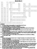 World War II Worksheet/ Crossword Puzzle