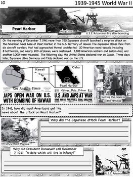World War II Worksheets