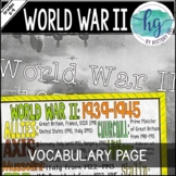 World War II (World War 2) Coloring Page and PowerPoint