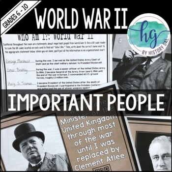 World War II (World War 2) Important People