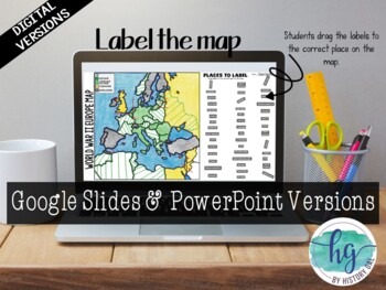 Wonderful World War II (World War 2) Map Activity