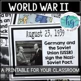 World War II (World War 2) Timeline