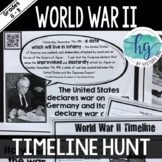 World War II (World War 2) Timeline Activity
