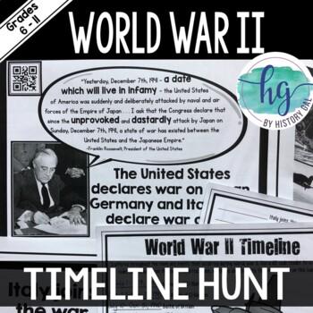 World War II (World War 2) Timeline Activity