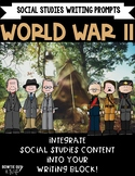 World War II Writing Prompts- axis powers, allied powers, VE Day, VJ Day & more!