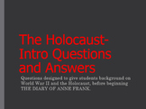 World War II and Holocaust Intro Questions