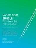 World War II and The Holocaust Vocabulary Word Sort