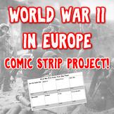 World War II in Europe Comic Strip Project
