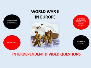 World War II in Europe: Interdependent Divided Questions Activity