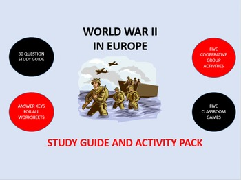 World War II in Europe: Study Guide and Activity Pack
