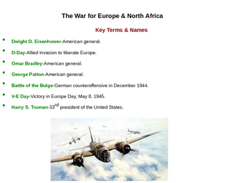 World War II in Europe and North Africa