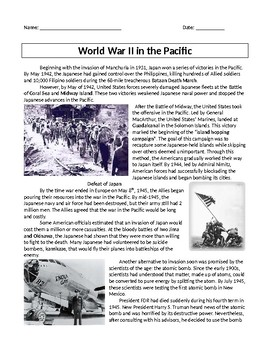 World War II in Pacific with docs