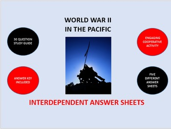 World War II in the Pacific: Interdependent Answer Sheets Activity