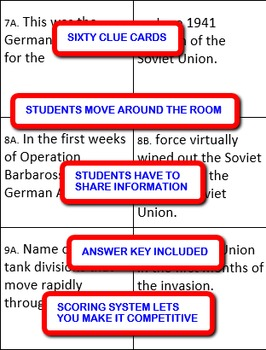 World War II on the Eastern Front: Interdependent Divided Questions Activity