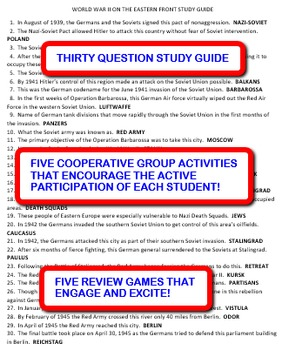 World War II on the Eastern Front: Study Guide and Activity Pack