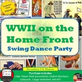 World War 2 on the Homefront Swing Dance Activity U.S. History  Print & Digital