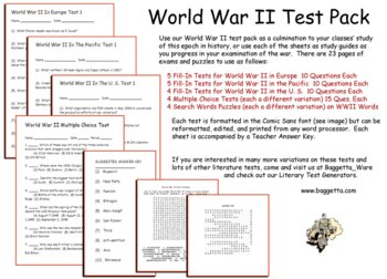 World War II Test Pack