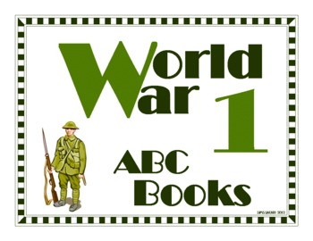 World War One ABC Book Project for Grades 4-8