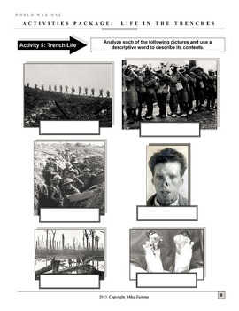 World War One/First World War Package: Life in the Trenches - 10 Pages!