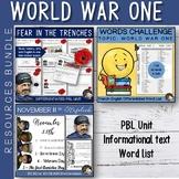 World War One Activities - Resources Bundle