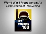 World War One All Quiet Propaganda Poster Powerpoint Presentation