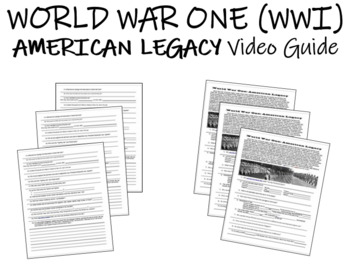 World War One: American Legacy - Video Guide
