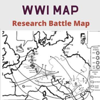 World War One Battle Map
