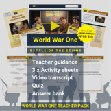World War One   Battle Of The Somme Activity Pack and Awar