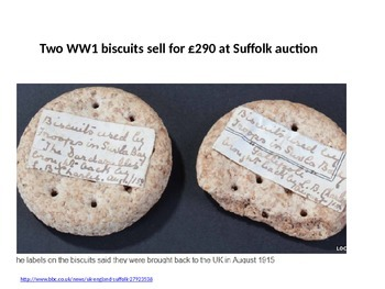 World War One Biscuits - News Story to engage