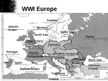 World War One Breaks Out Notes