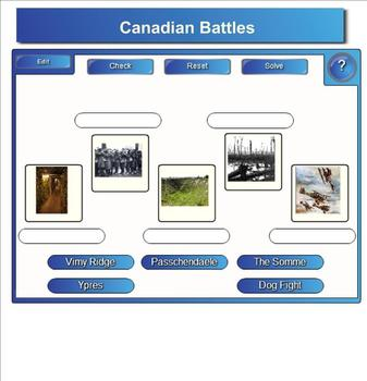 World War One/First World War Bundle - 23 Pages of Smartboard Activities!