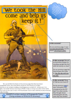 World War One - Classroom Resource or Homework Booklet