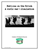 World War One Classroom Simulation - Simulate the start of WWI in class!