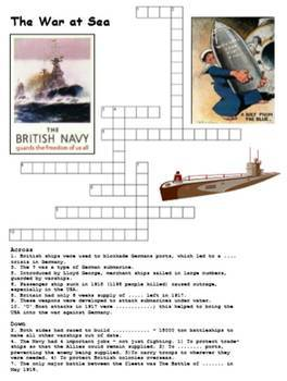 World War One Crossword Pack of 10