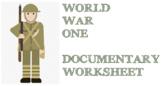 World War One - Documentary Worksheet