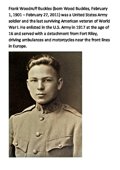 World War One Doughboys Word Search
