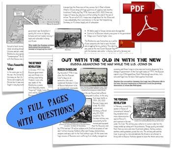 CHC2P CHC2D World War One: Entire Unit