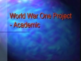 World War One - Group Project