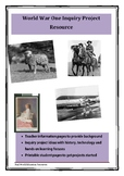 Anzac WW1 Inquiry Project Resource