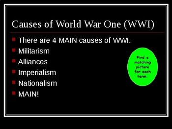 World War One Interactive Notes ( WWI )