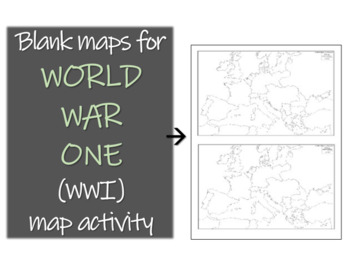 World War One Map Activity