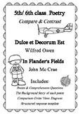 World War One: Poem Comparison