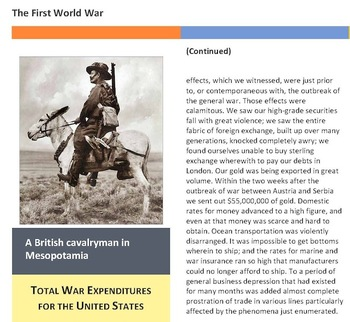 World War One Primary Sources