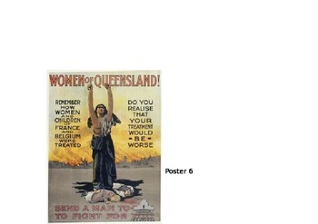 World War One- Propaganda Posters (Australia) Activity