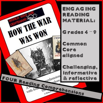 HOW THE WAR WAS WON. WW1 Comprehension pack DISTANCE LEARNING, Price Cut